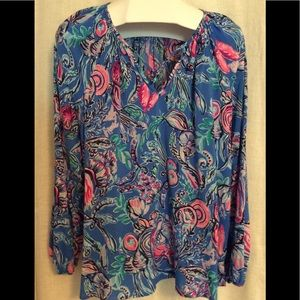 Lilly Pulitzer blouse.